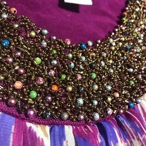 Stunning beaded neckline top